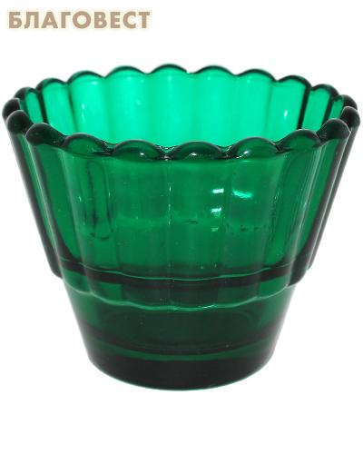 Лампада рифленая зеленая
