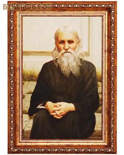 Отец Николай Гурьянов. Репродукция на  холсте. Размер 18,5*28 см (  -  )