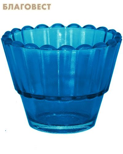 Лампада рифленая синяя