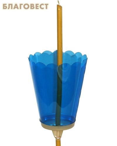 Подсвечник для Крестного хода. Из огнеупорного пластика. Большой (в упаковке 50 шт, максимальный диаметр свечи 9 мм, свеча в комплект не входит) (  -  )