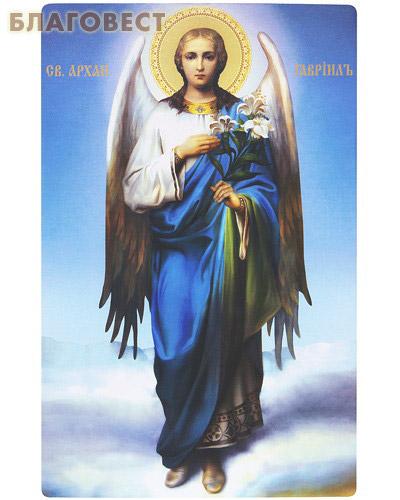 Икона Архангел Гавриил. Полиграфия, дерево, лак
