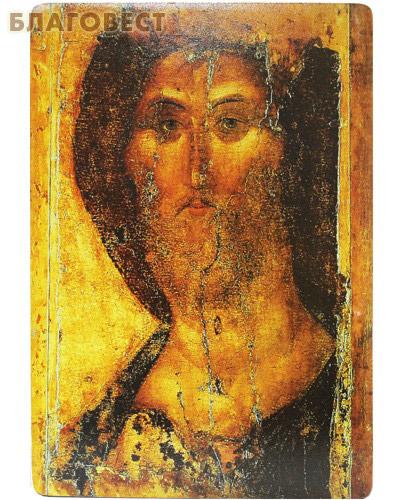 Икона Спас Звенигородский. Полиграфия, дерево, лак (  -  )