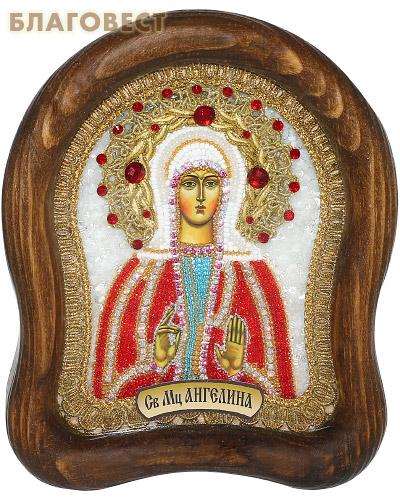 Икона Святая мученица Ангелина (возможны различия в цветовой гамме)