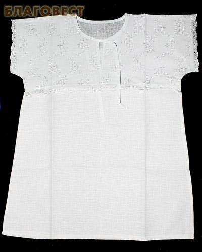 Крестильная рубашка «Крестик». Возраст 2-3 года. Ткань х/б, шитье (  -  )
