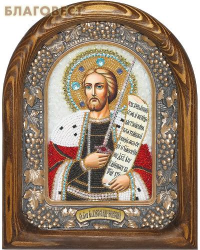 Икона Святой Александр Невский (возможны различия в цветовой гамме)