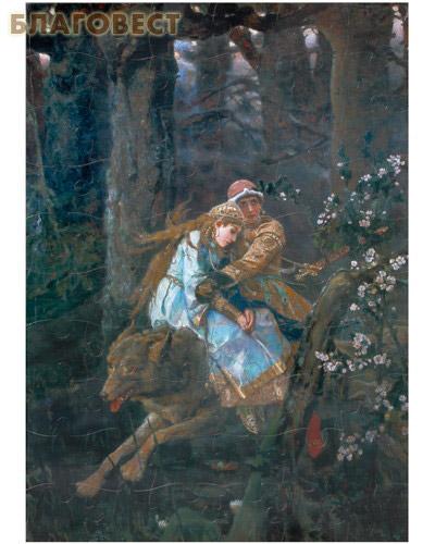 Вышивка иван царевич на сером волке