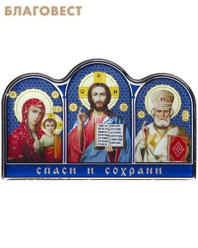Икона Триптих на клеящейся основе с полимерным покрытием (  -  )