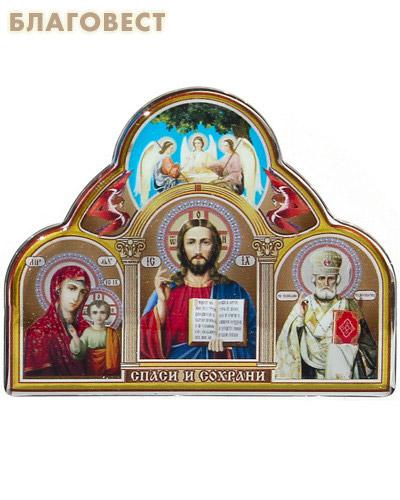 Икона Триптих на клеящейся основе с полимерным покрытием (малый) (  -  )
