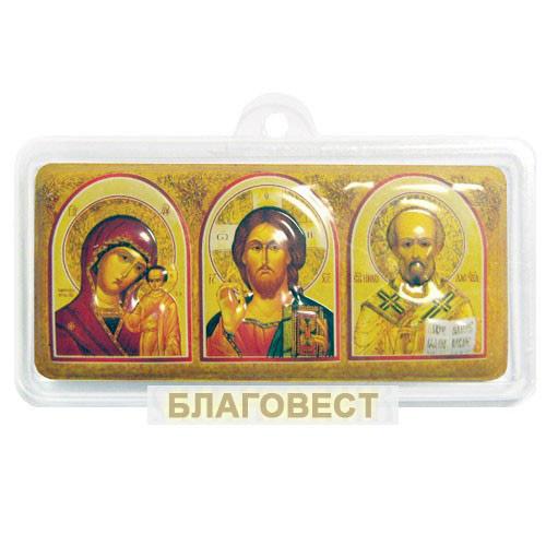 Икона Триптих объёмный на скотче