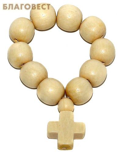 Четки деревянные Граб белый. 10 зёрен, (диаметр 10 мм) (  -  )