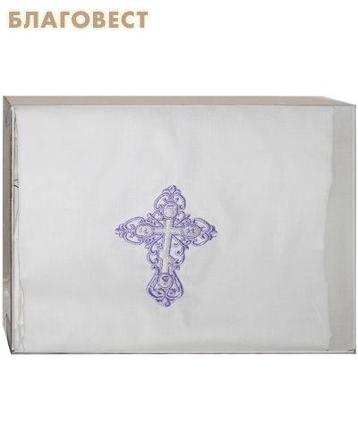 Крестильная рубашка «Торжество» - с большим вышитым крестом р. 46-48. Ткань х/б, бязь-ГОСТ, вышитый крест (  -  )