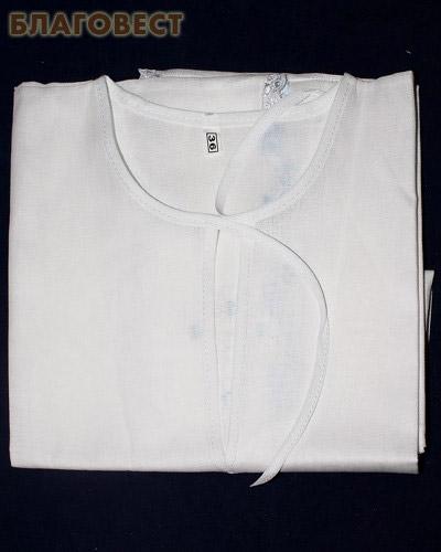 Крестильная рубашка р. 34-36. Возраст 8-11 лет. Ткань х/б, шитье (  -  )