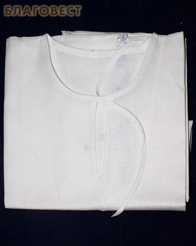 Крестильная рубашка р. 38-40. Возраст 12-15 лет. Ткань х/б, шитье (  -  )