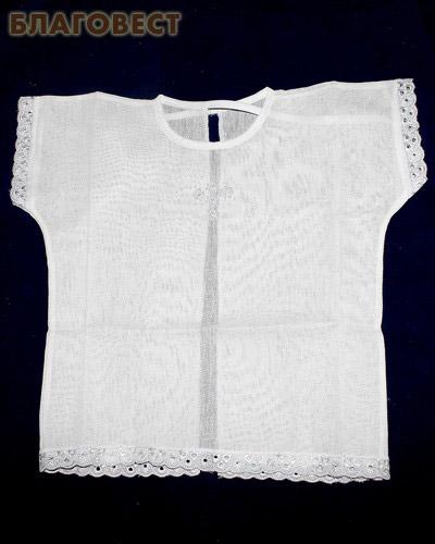 Крестильная рубашка. Возраст 0-6 месяцев. Ткань х/б, шитье (  -  )