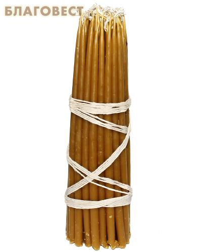 Свечи восковые конусные №2 (50шт, длина 190мм, толщина основания 6мм)
