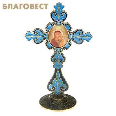 Крест на подставке с иконой