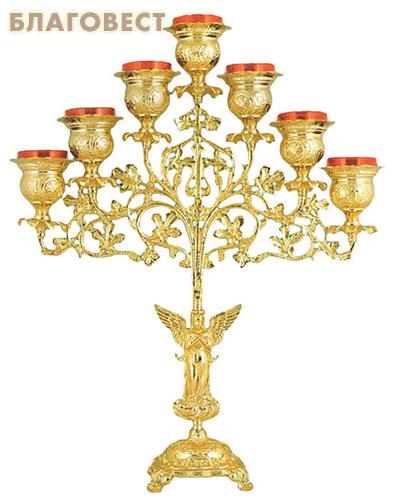 Семисвечник с лампадами