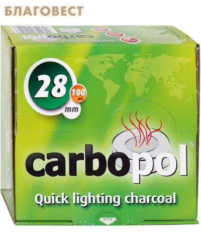 Уголь кадильный моментального розжига Carbopol, d=28 мм, 10 брикетов в коробке