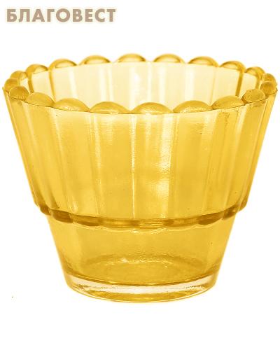 Лампада рифленая желтая стекло