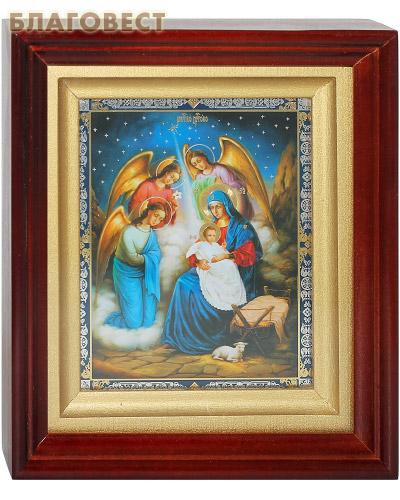 Икона в киоте Рождество Христово