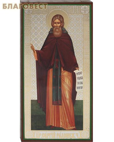 Икона Прп. Сергий Радонежский, аналойная