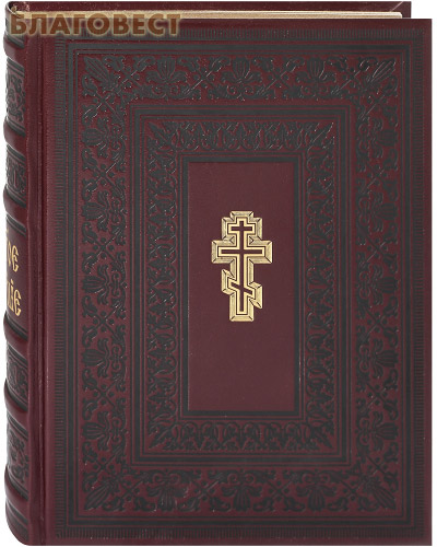 Святое Евангелие. Кожаный переплет. Золотой обрез. Церковно-славянский шрифт