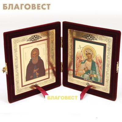 Складень Ангел-Хранитель - Прп. Сергий Радонежский