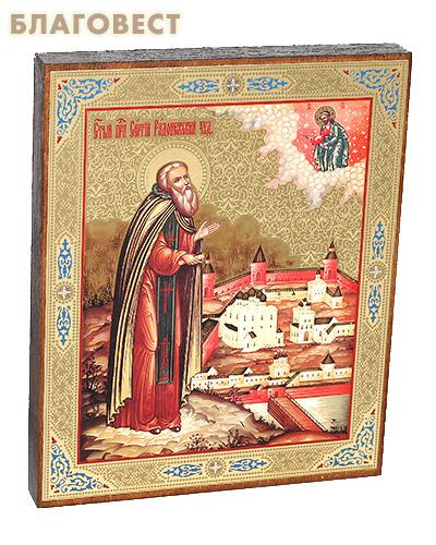 Икона прп. Сергий Радонежский