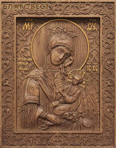 Икона резная Пресвятая Богородица Утоли моя печали