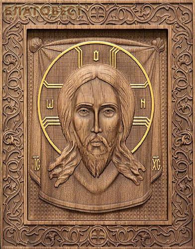 Икона резная Спас Нерукотворный