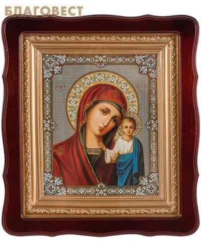 Икона в резном киоте Пресвятая Богородица