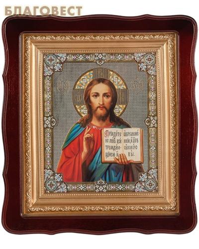 Икона в резном киоте Спаситель