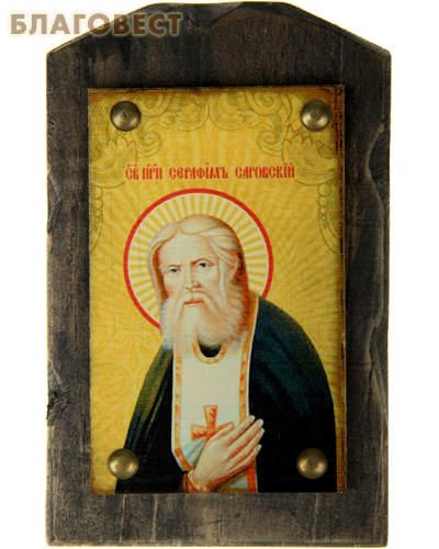Икона на дереве Святой Серафим Саровский