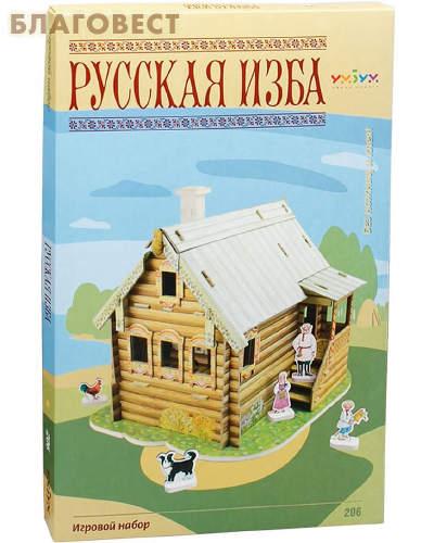 Русская изба. Игровой набор из картона