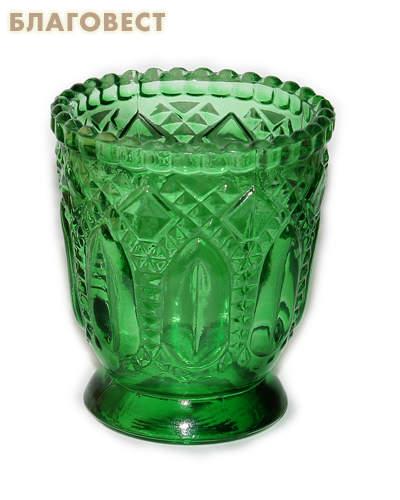 Лампада зеленая на подставке