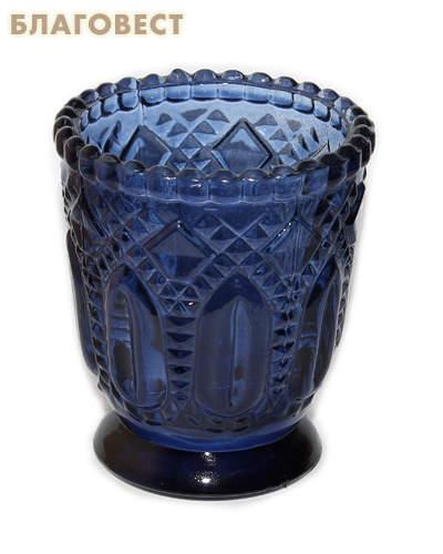 Лампада, синяя на подставке