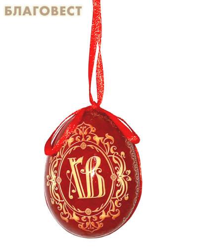 Сувенир Яйцо на подвесе ХВ орнамент