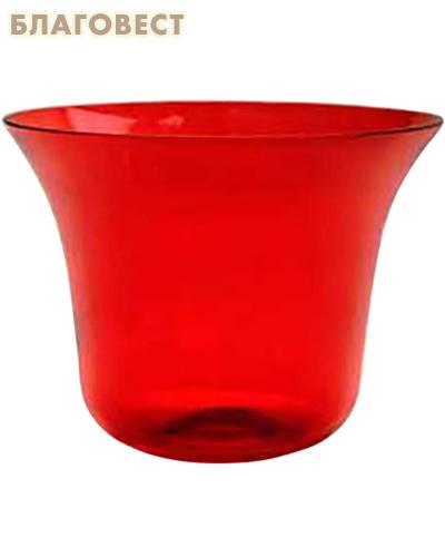 Лампада стеклянная рубин