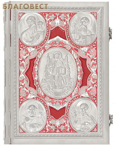 Апостол богослужебный в цельнометаллическом окладе с росписью. Церковно-славянский шрифт