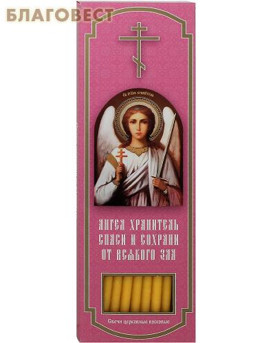 Свечи воскосодержащие конусные, размер 215* 6мм (80% воска, 20шт. в коробке)