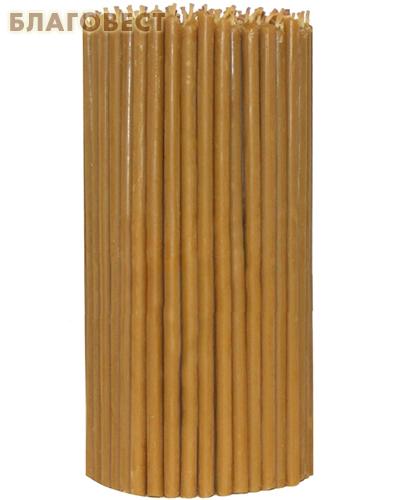 Свечи церковные восковые (100% воск) №60, 1кг (150шт в пачке, размер свечи 7*225мм)