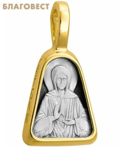 Икона Святая блаженная Матрона Московская (серебро 925 пробы, позолота 999 пробы)