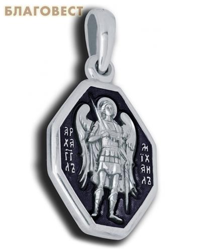 Икона двухсторонняя Архангел Михаил, серебро с чернью