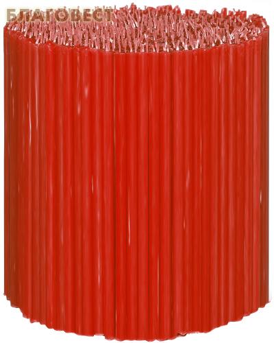 Свечи церковные красные (50% воска) №120, 2кг (600шт в пачке, размер свечи 160 х 5мм)