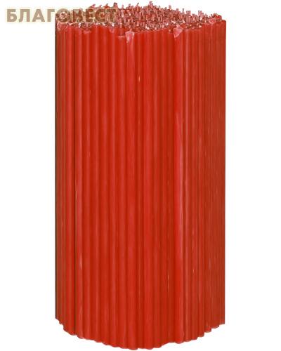 Свечи церковные красные (50% воска) №60, 2кг (300шт в пачке, размер свечи 220 х 7мм)