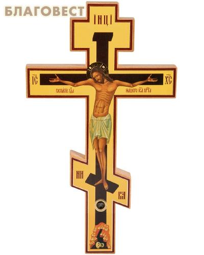 Крест-распятие восьмиконечный с частицей земли из града Иерусалима