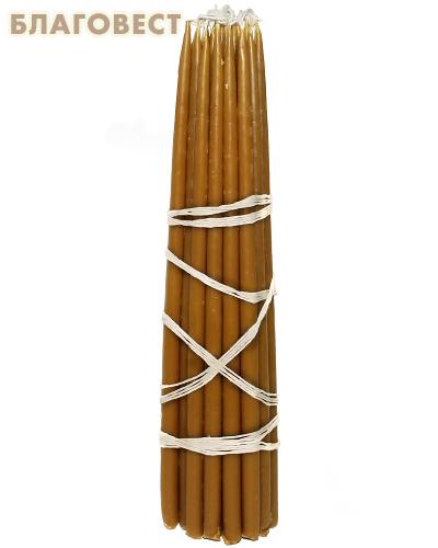 Свечи восковые конусные №4Т (25шт, длина 270мм, толщина основания 10мм)