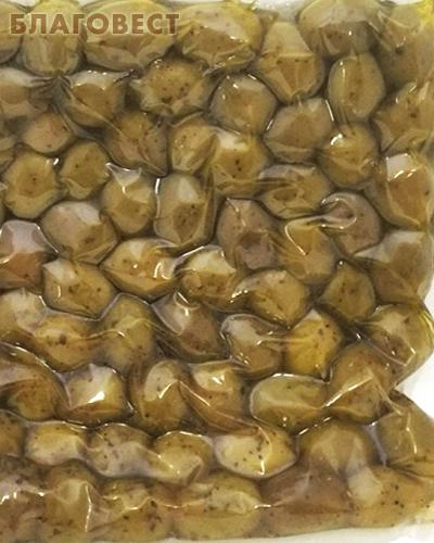 Оливки Халкидики (зеленые) XL с косточкой (вакуумная упаковака, 500г)