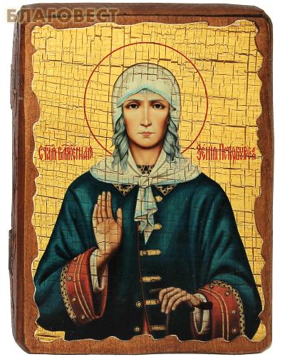 Икона под старину Святая блаженная Ксения Петербургская