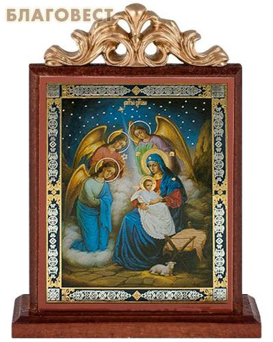 Икона на подставке Рождество Христово